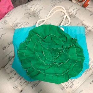 Boden fun green tote/beach bag